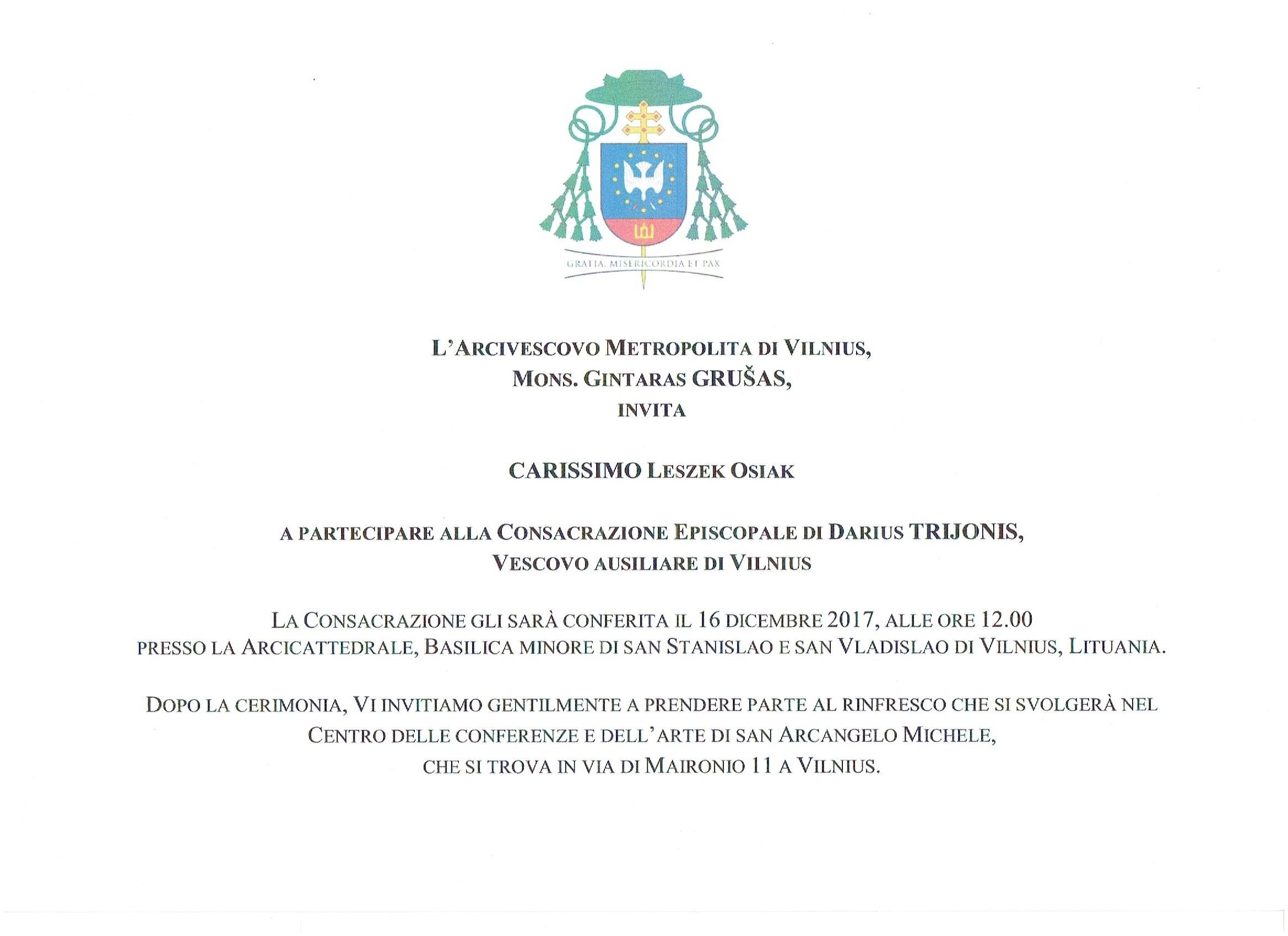 Zaproszenie na Ingres do Wilna